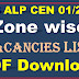 RRB ALP CEN 01/2018 Zone wise Vacancies List PDF Download