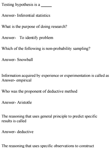 B A Economics Research Methodology FAQ MCQ Questions and Answers PDF