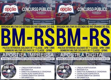Apostila Concurso Polícia Ostensiva RS Bombeiro Militar BMRS