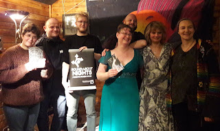 photo of poets after their performance at the launch of fire in the head