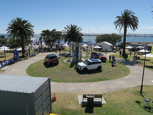 land rover roadshow event, St Kilda's beach, Melbourne