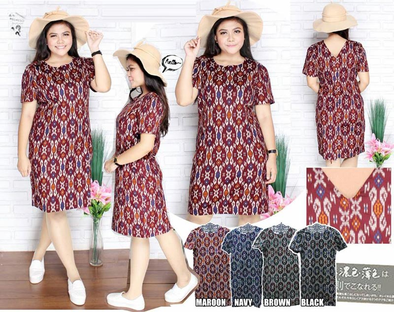 Jual Baju Batik Belline Batik Dress (Big Size) - 13136