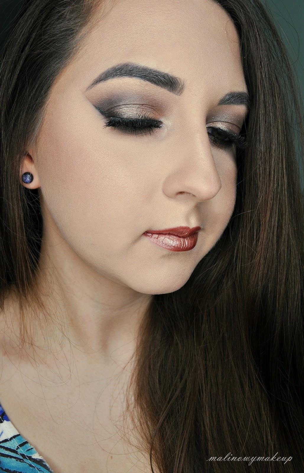 makijaż makeup smoky smokey sylwester karnawał