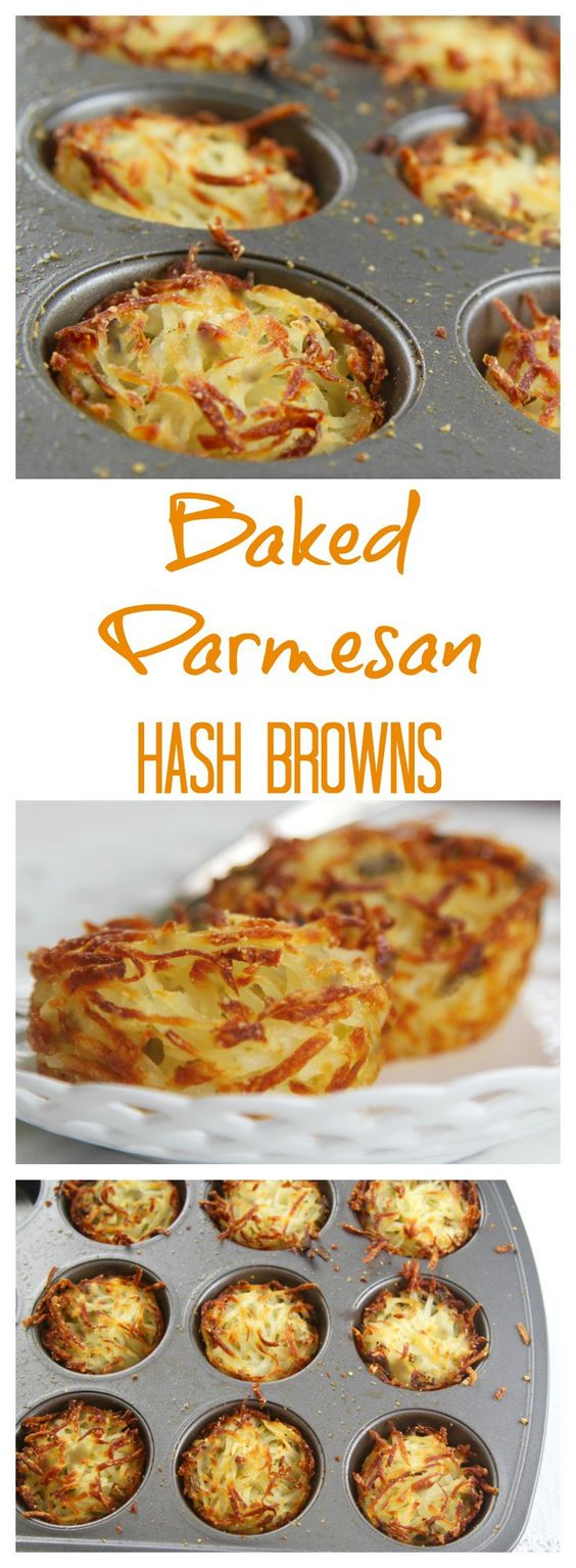 PARMESAN BAKED HASH BROWNS - Breakfast and Brunch Recipes