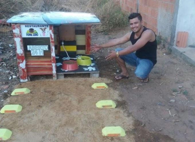 Un joven crea un restaurante para perritos callejeros; abre las 24 horas del día