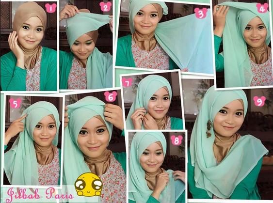 Tutorial Hijab Paris Style Modern untuk Pesta Terbaru