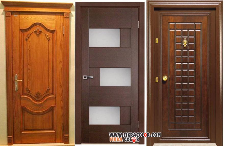 4998e796a ... الخشبية من اجمل الالوان التي تناسب الأبواب وهي اكثر استعمالا لذلك يجب  العناية باختيار اللون المناسب . احدث ديكورات ابواب خشبية خارجية مع الوان  جميلة.