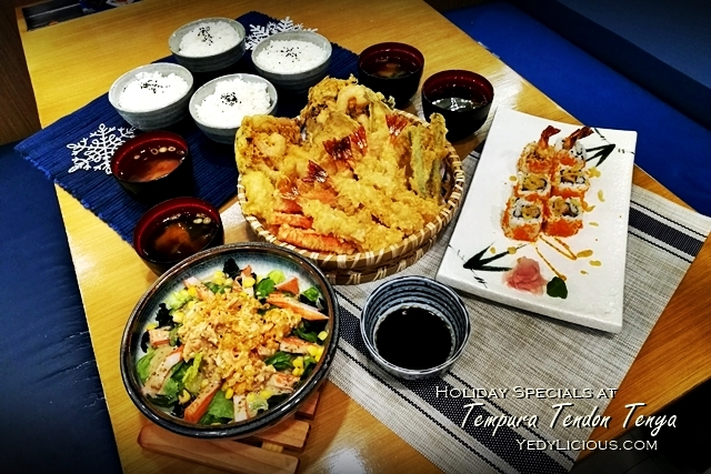 Holiday Set Specials at Tenya Tempura Philippines Blog Review New Menu Best Tempura in Manila YedyLicious Manila Food Blog Tenya Megamall Food Street BGC Stopover Market Market SM Southmall