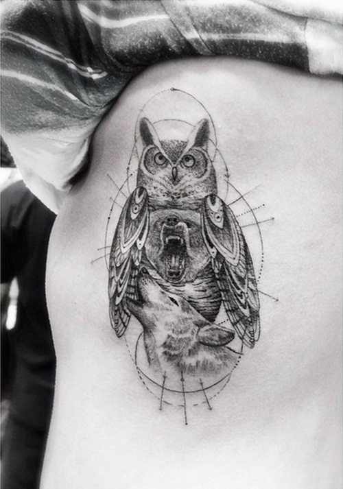 My Owl Barn Coolest Tattoo Art By Dr Woo