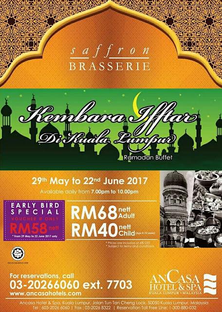 Senarai Buffet Ramadhan 2017 Di Kuala Lumpur