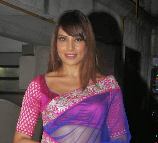 Bipasha-Basu-blue-saree