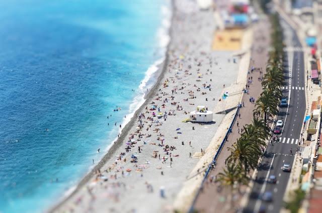 Nice (Pháp) luôn nổi tiếng với bãi biển tuyệt đẹp