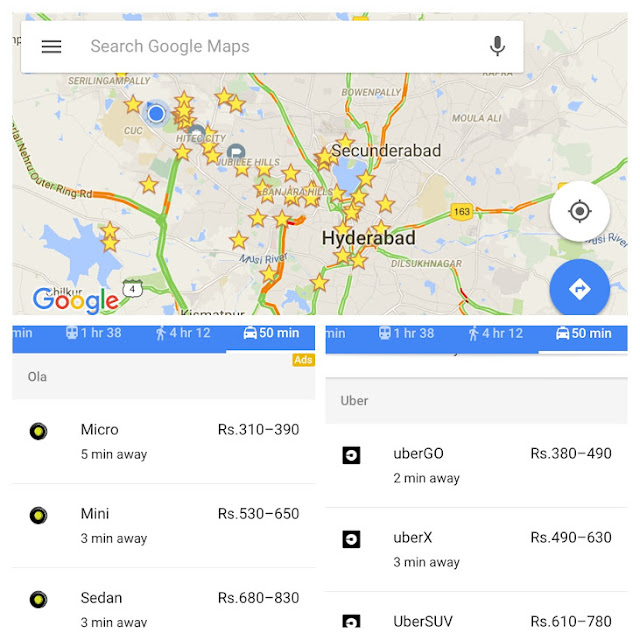 Compare and Choose OLA or Uber before each ride?