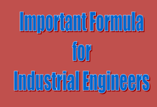Important Formula for Industrial Engineering