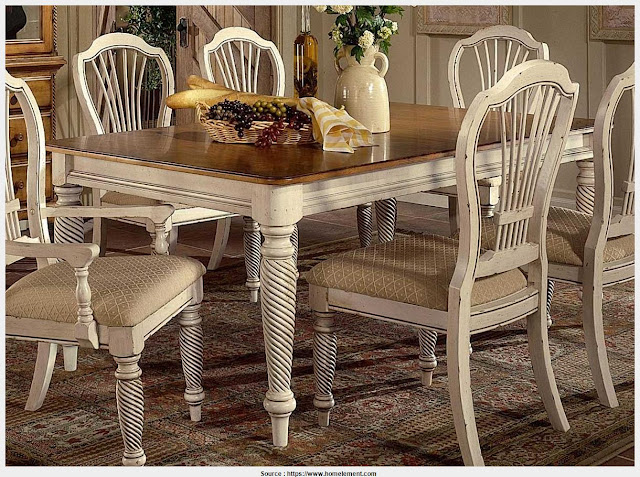 Beautiful Antique White Dining Table Photo