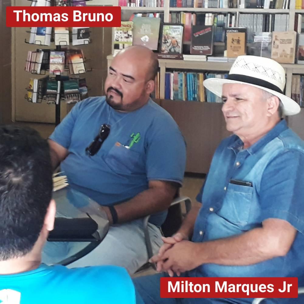 ambiente de leitura carlos romero thomas bruno oliveira livraria do luiz joao pessoa encontro intelectuais cafe literario celso furtado