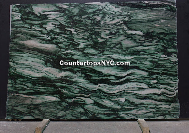 Verde Lapponia Green Marble Slab NYC 2cm