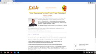 La page d'accueil du site internet du CdA