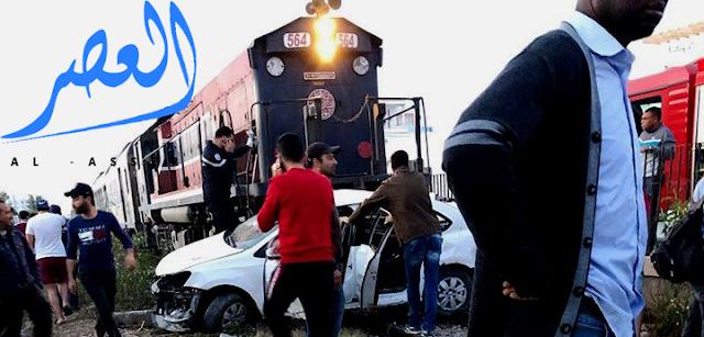 صفاقس:وفاة طفلة و إصابة آخرين إثر إصطدام قطار بسيارة مدنية.