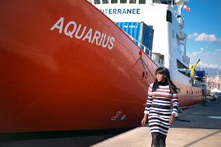 Stephanie Linus visits rescue ship 'Aquarius' in Italy as She advocates against Human Trafficking 2