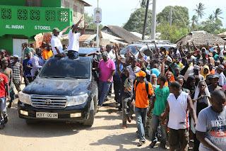 Joho and other coastal Governors chased away at Mpeketoni in Lamu. PHOTO | Courtesy