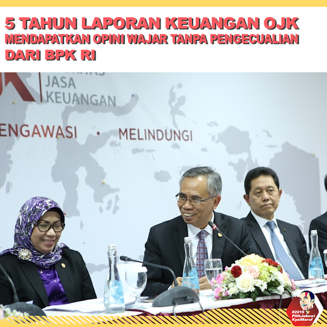 5 Tahun Laporan Keuangan OJK Mendapatkan Opini Wajar Dari