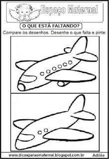 Completando desenho avião