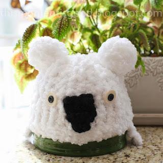 Loom knit Koala Bear Child's Hat Pattern