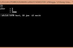Aplikasi Menghitung Usia Pemrograman C#