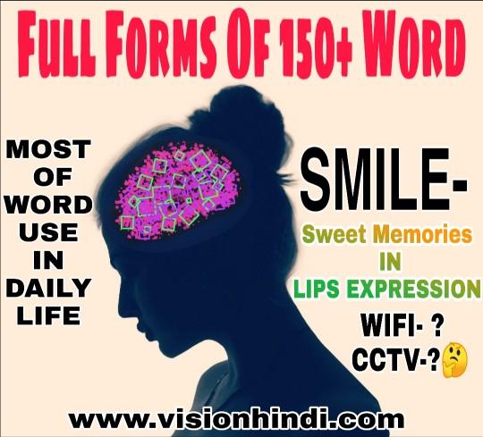 Full Form Of 150 Short Words