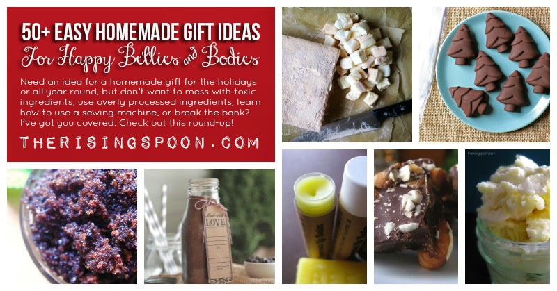50+ Easy Homemade Gifts Ideas For Happy Bellies & Bodies | therisingspoon.com