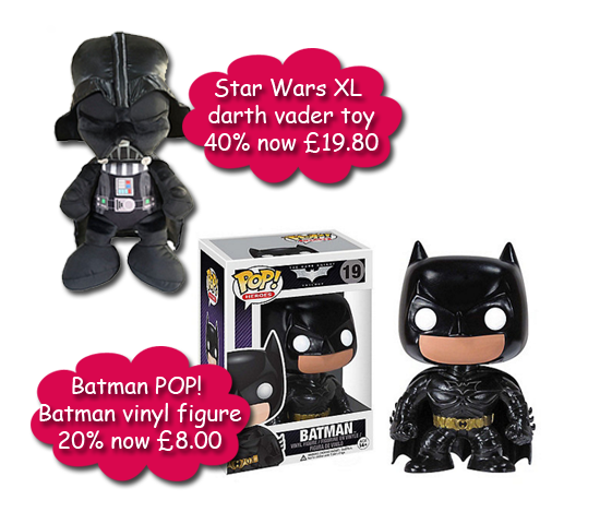 Batman and Darth Vader toy Sales at Debenhams