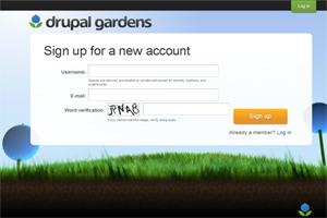 Drupal gardens, plataforma para la creación de sitios web bajo el cms Drupal