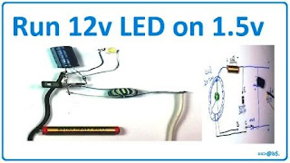 run 12v LED on 1.5v cell easy step with circuit diagram