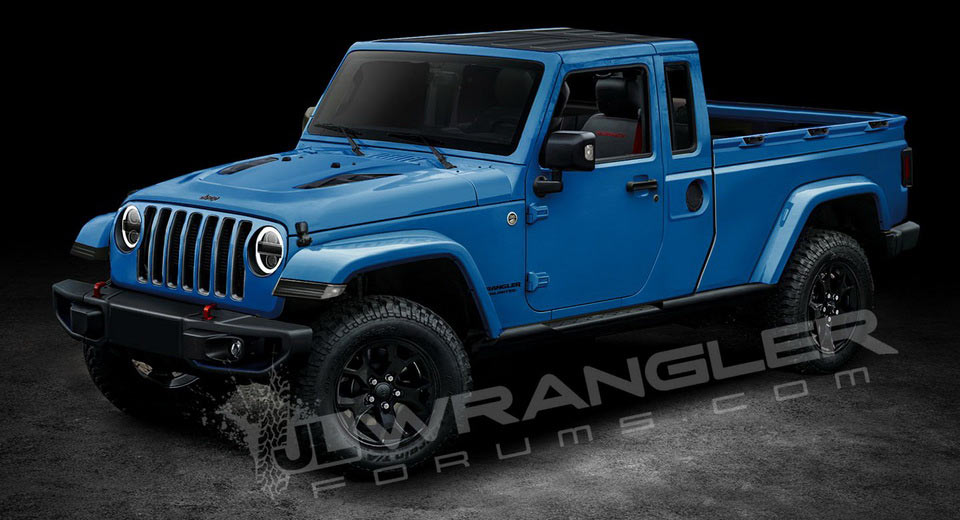 Jeep Wrangler Pickup Rumored To Be Called Scrambler