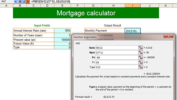 Free Loan Calculators For Excel  Mortgage Loan