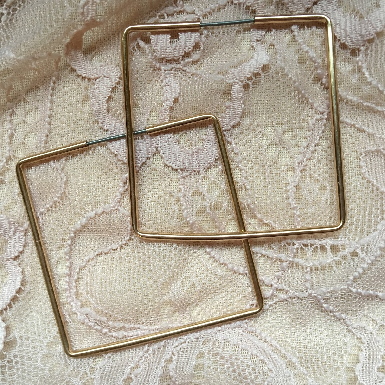 Accessorize Gold Square Earrings