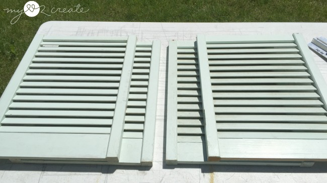 shutters to be used to make potting bench