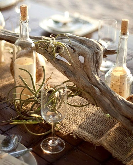 message in a bottle table centerpiece