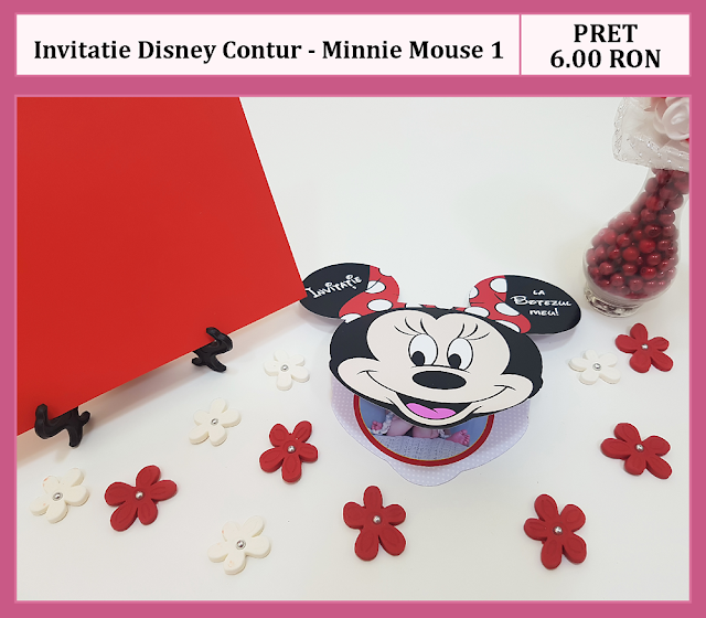invitatii botez contur Minnie 1