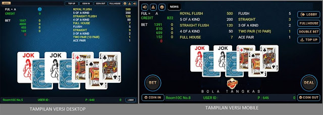Bonus Jackpot Permainan Poker Bola Tangkas Online