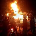 Breaking News, POM Mini Milik Anggota Dewan di Saronggi Terbakar