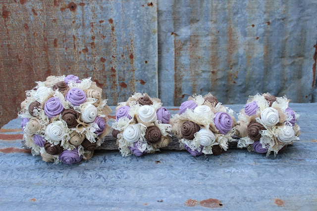 burlap bridal bouquet