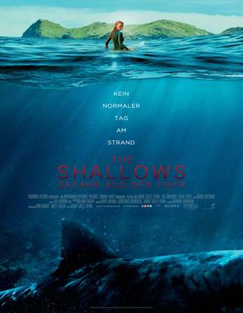 Poster Of The Shallows 2016 English 700MB HDTS x264 Free Download Watch Online Worldfree4u