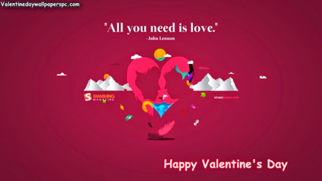 Valentines Day Quote Wallpaper