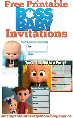 boss baby invitations