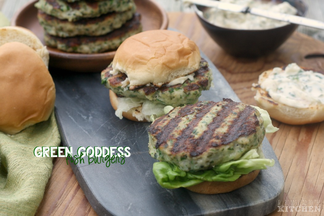 Green Goddess Fish Burgers | #FishFridayFoodies