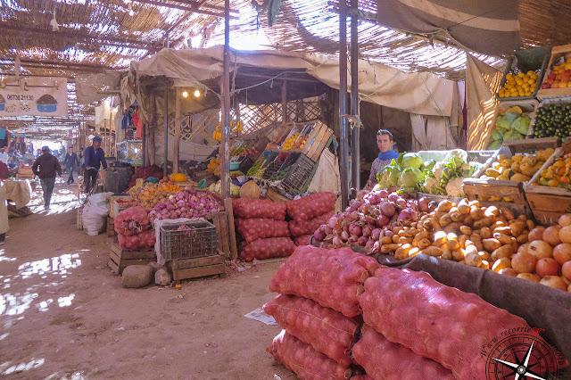 verduras en el mercado de Rissani