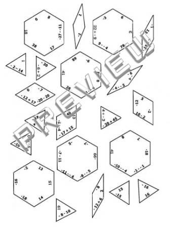 The Math Magazine: Integers Practice Puzzle Cut & Paste