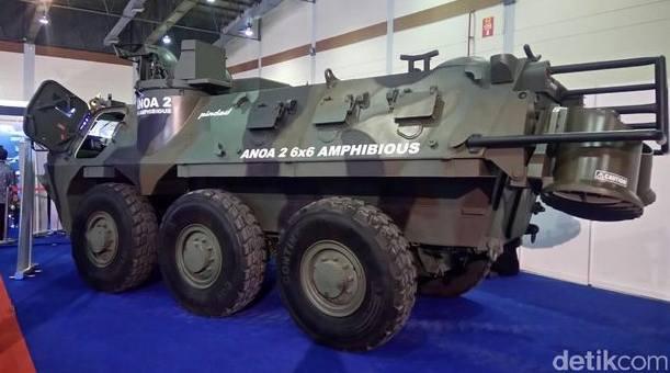 Kendaraan tempur militer Panser anoa2 Amphibious produk pindad